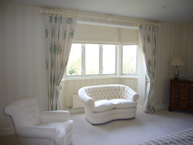 Classic lounge curtains and upholstery