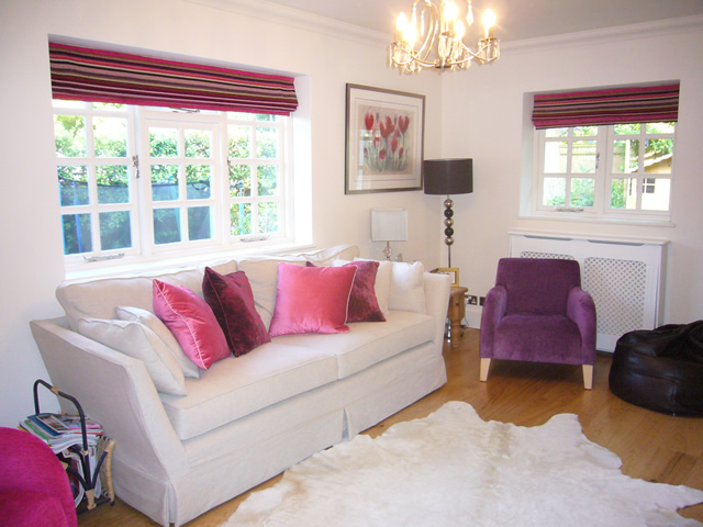 Blinds and matching cushions